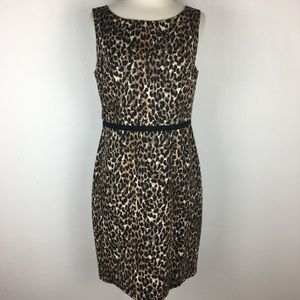 Loft Leopard Print Sleeveless Dress size 6